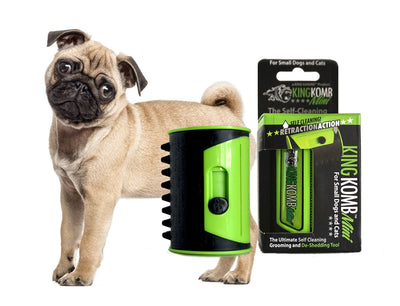 KING KOMB™ MINI DeShedding Brush For Pugs - KING KOMB™
