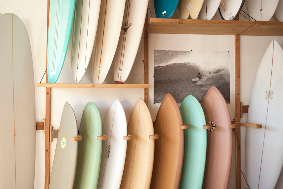 That man works in a surf shop