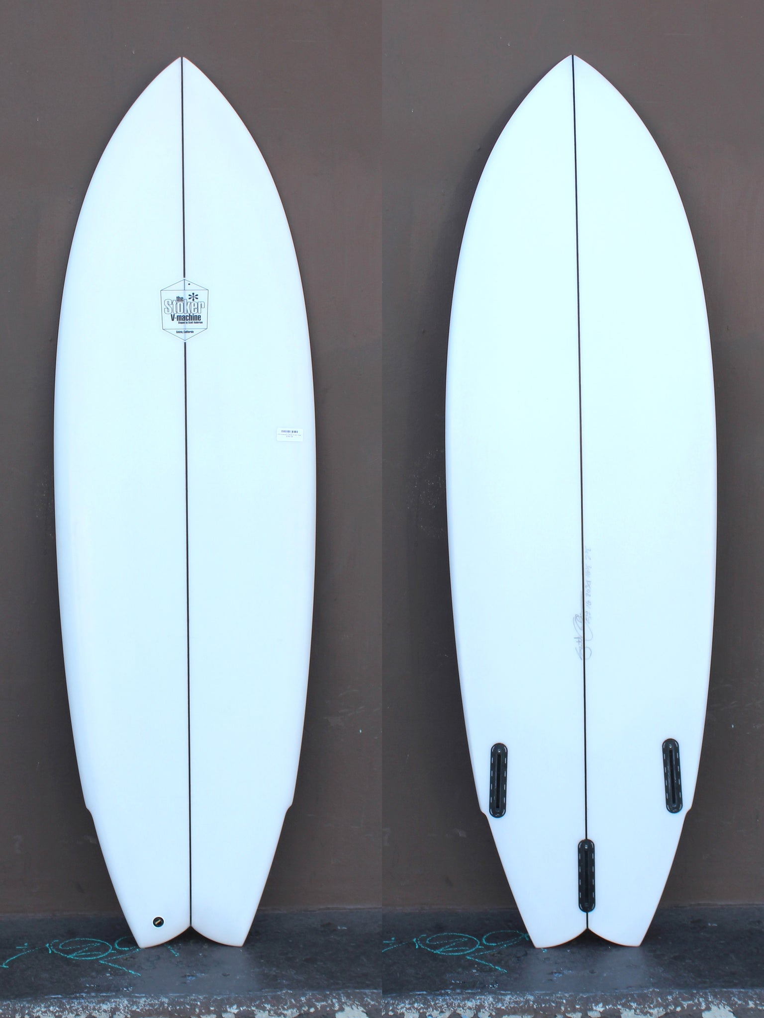 5'10 Anderson Stoker V twin Clear