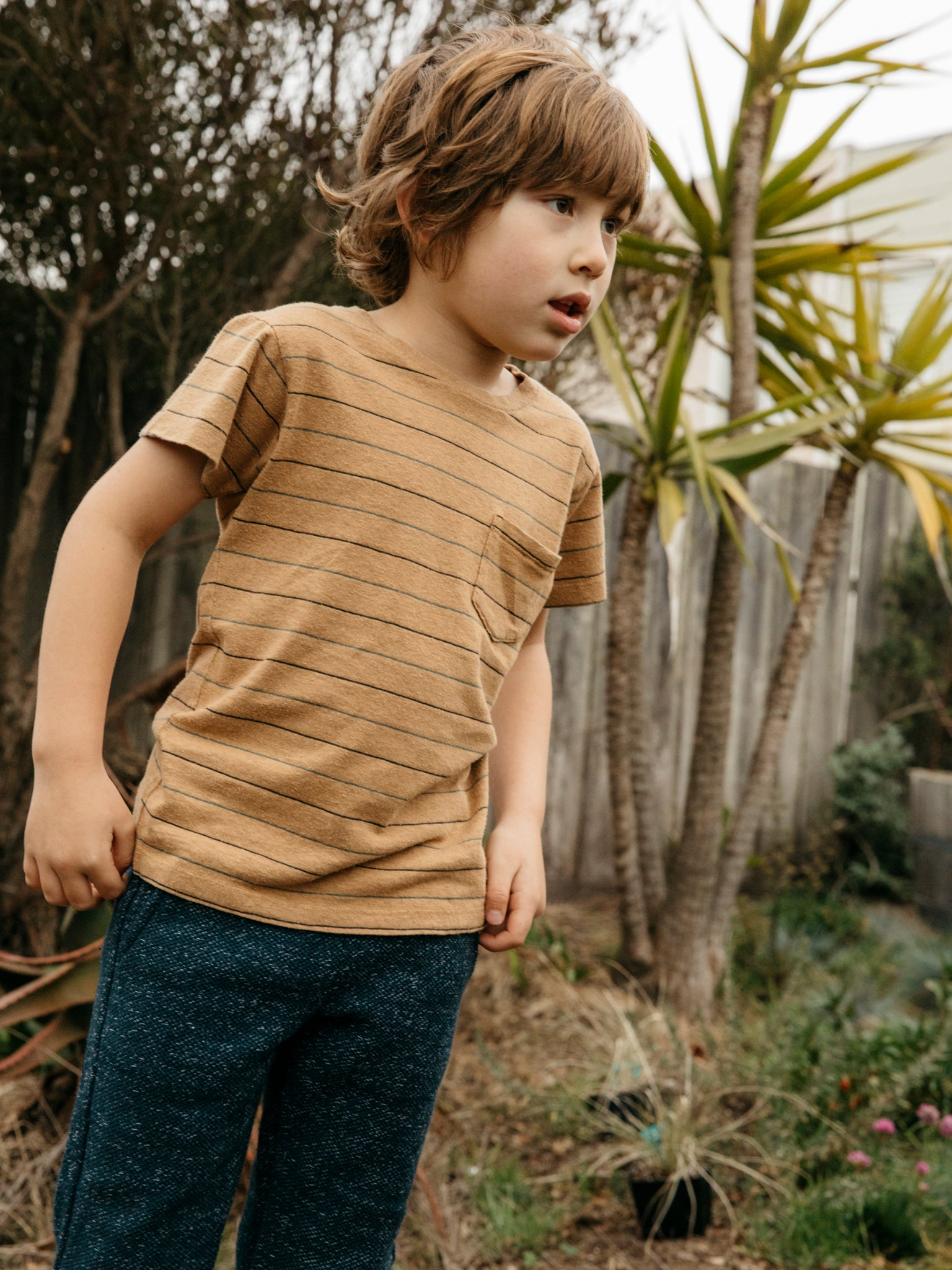 Kids Stripe Pocket Tee