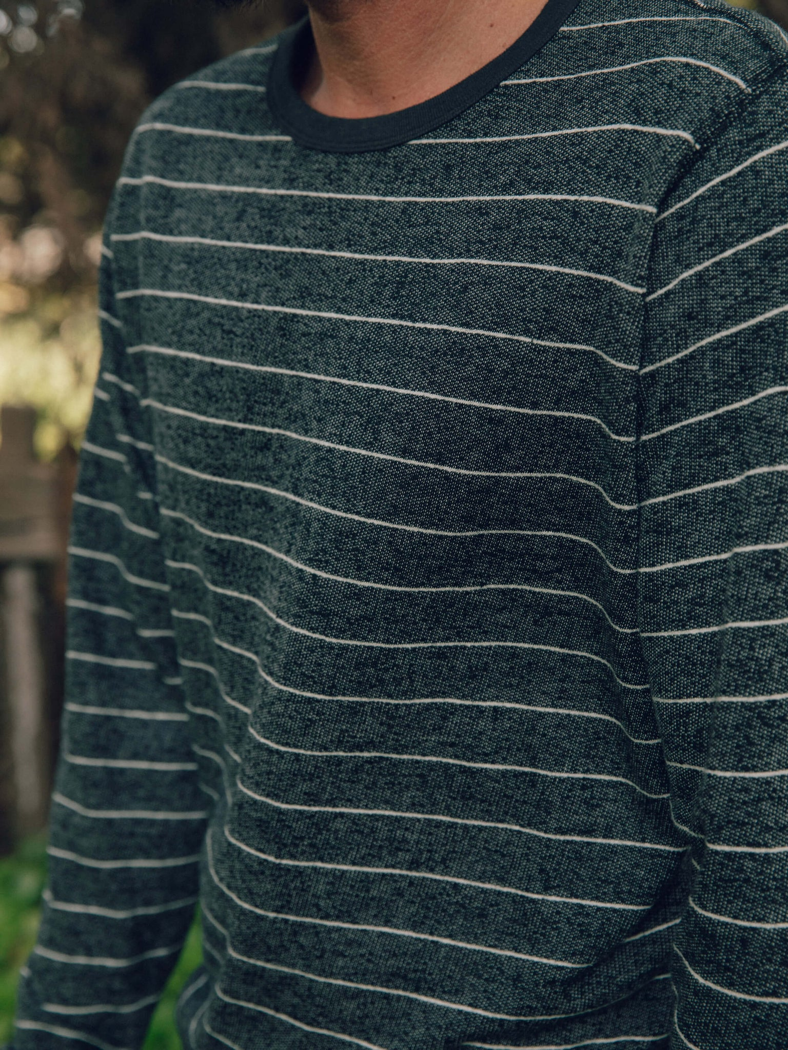 Stripe Hemp Crew