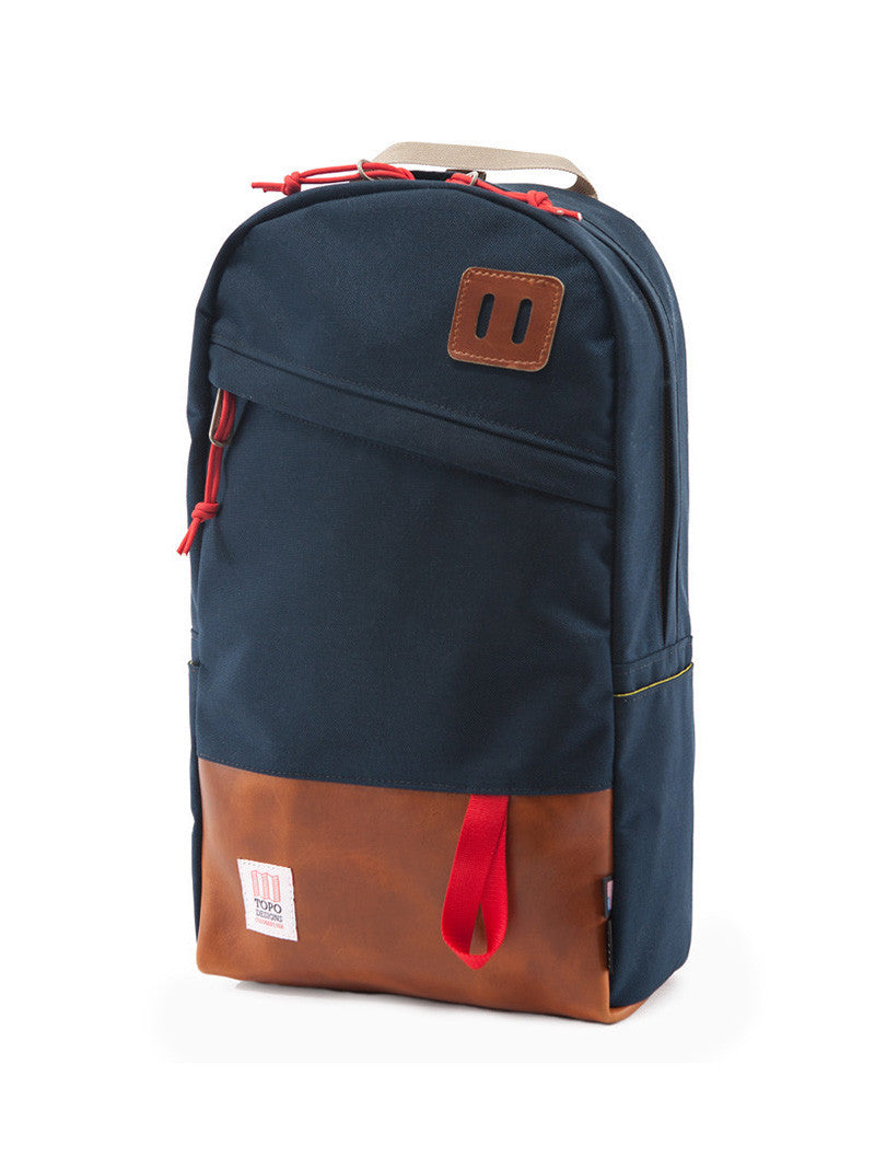 Topo Designs Daypack - Navy/Leather
