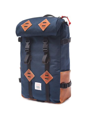 Topo Designs Klettersack - Navy and Leather