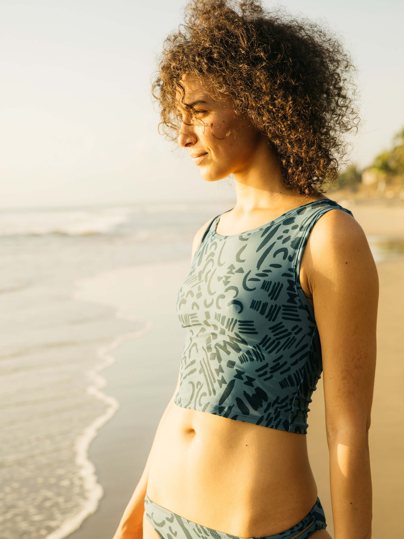 Cropped Surf Tank