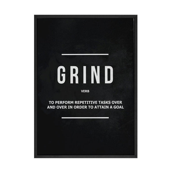 Grind Hustle  Execution Wall Art