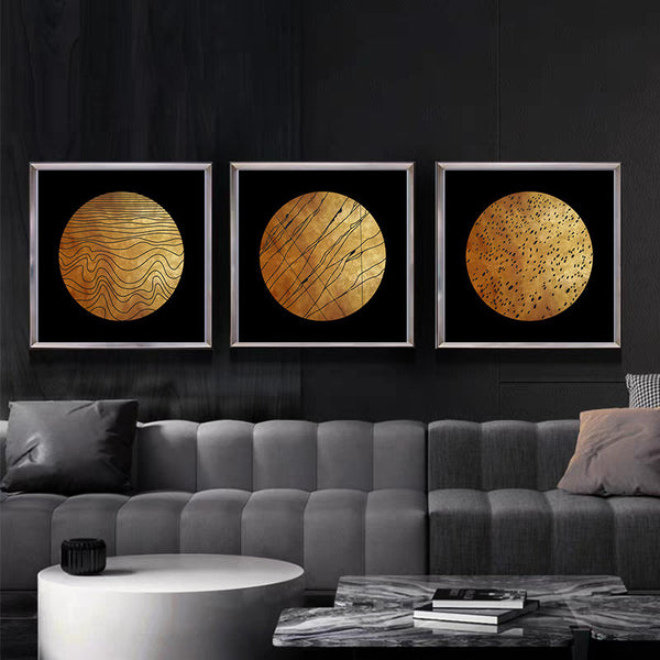 Gold Black Nordic Canvas Painting Picture