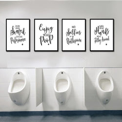 Bathroom  Quotes Posters Poster Paper