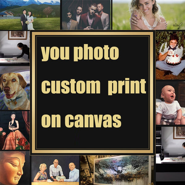 Family or Baby Photo Favorite Image Custom Print on Canvas Painting