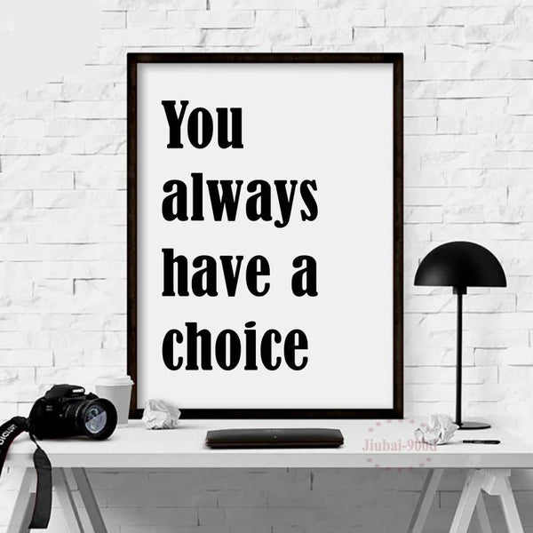 Inspiration Quote Art Print painting Poster Wall Pictures