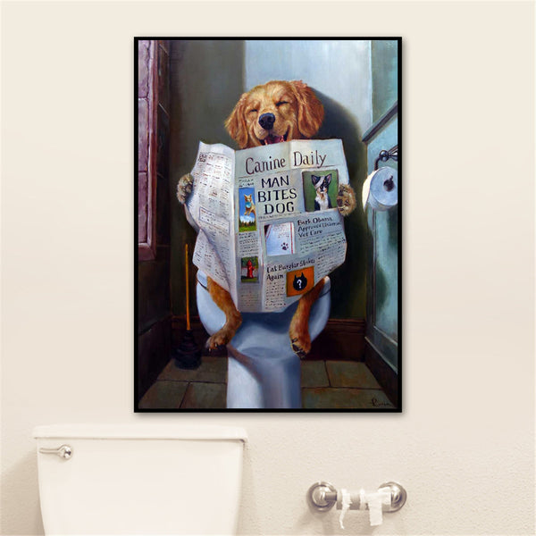 Cute Posters and Prints Bathroom Room Decor Wall Art