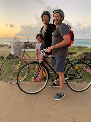 body be well bike riding at Kirra beach queensland