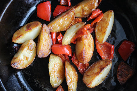 body be well - baked potatoes with peppers
