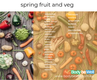 body be well- spring seasonal fruit and veg guide