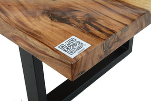 Live Edge Clear Epoxy Resin Table