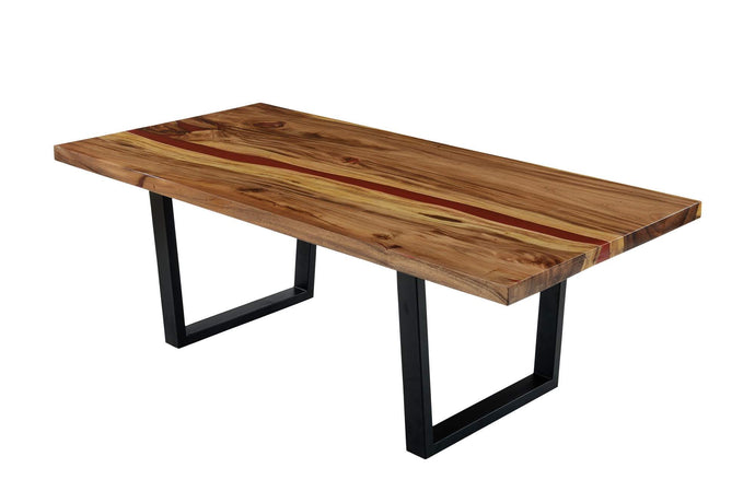 Live Edge Red Epoxy Resin Table
