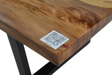Load image into Gallery viewer, Live Edge Red Epoxy Resin Table