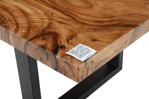 Live Edge Black Epoxy Resin Table