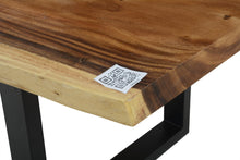 Load image into Gallery viewer, Live Edge Blue Epoxy Resin Table