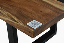Load image into Gallery viewer, Live Edge Black Epoxy Resin Table