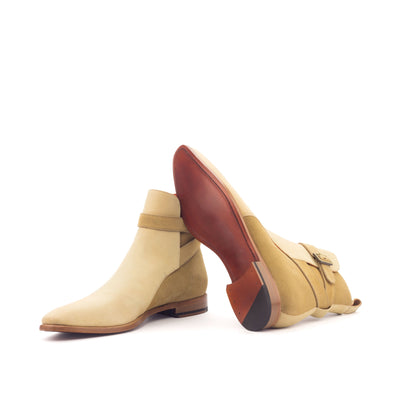 L'Argon two tone camel suede Jodhpur boot