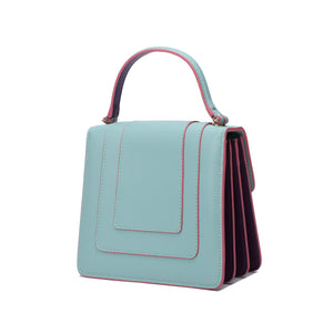 Full-Grain Nappa Leather Top Handle Satchel/Shoulder Bag