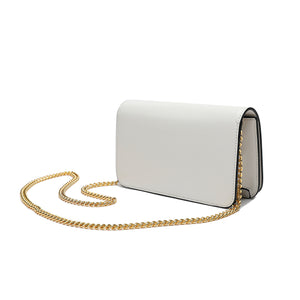 Full-Grain Smooth Nappa Leather Flap-over Shoulder Bag
