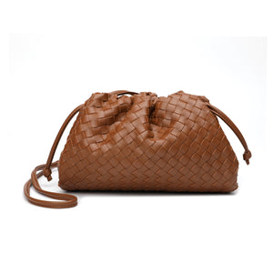 Full Grain Woven Leather Pouch/Shoulder/Clutch Bag