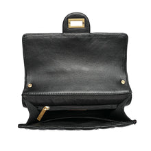Load image into Gallery viewer, Full-grain Lambskin Leather Shoulder Bag Embellished With Faux Pearls