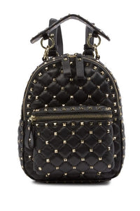 Valenté Studded & Quilted Leather Backpack