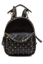 Load image into Gallery viewer, Valenté Studded & Quilted Leather Backpack