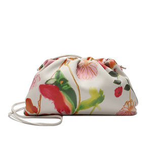 Full-grain Printed Lambskin Leather Shoulder/ Clutch Bag