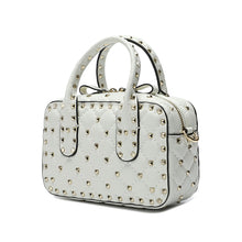 Load image into Gallery viewer, Double-handle Studded And Quilted Lambskin Shoulder Bag