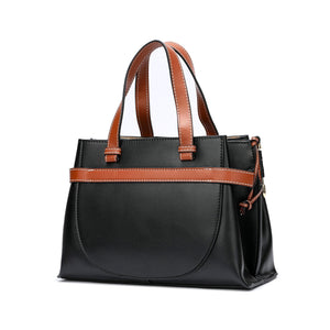 Full-grain Smooth Napa Leather Satchel/ Shoulder Bag