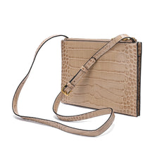 Load image into Gallery viewer, Alligator Embossed Leather Messenger/ Shoulder Bag