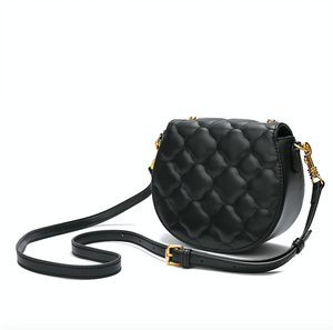Quilted Lambskin Flap Shoulder/ Crossbody Bag