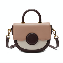 Load image into Gallery viewer, Full-grain Smooth Leather Trio-colored Shoulder/ Shoulder Bag