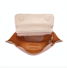 Load image into Gallery viewer, Two-tone Full-grain Nappa Leather Shoulder Bag