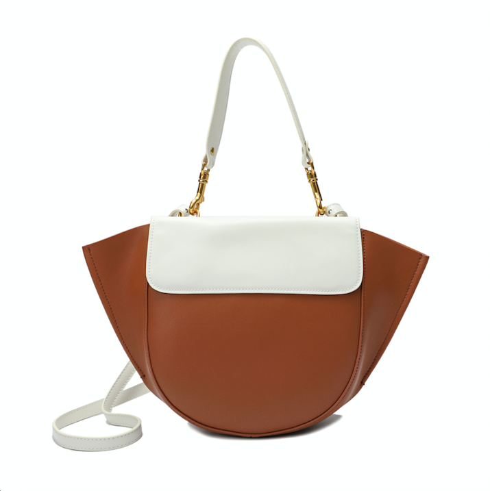 Two-tone Full-grain Nappa Leather Shoulder Bag