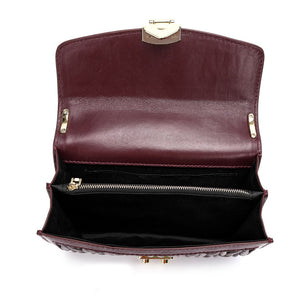 All-pleaded Sheepskin Messenger/ Shoulder Bag