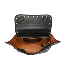 Load image into Gallery viewer, Full-grain Smooth Leather Studded Flap Shoulder/ Crossbody/ Messenger Bag