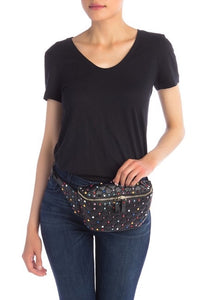 Valenté Studded & Quilted Leather Belt Bag