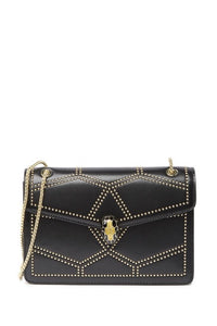 Studded Nappa Leather Flap Shoulder Bag