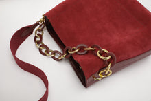 Load image into Gallery viewer, Suede Messenger Bag With Decorative Chain