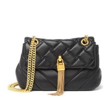 Load image into Gallery viewer, Quilted Lambskin Tassel Crossbody Bag