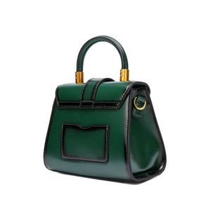 Single Handle Gradient Leather Satchel/ Shoulder Bag