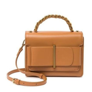 Nappa Leather Front Bow Satchel