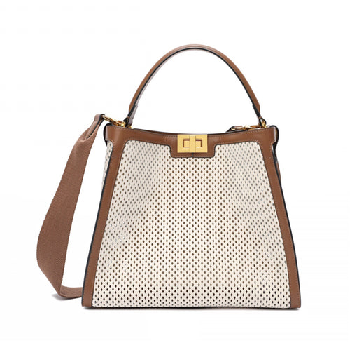 Full-grain Smooth Leather Perforated Tote