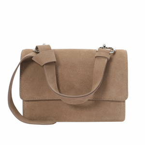 Suede Structured Shoulder/ Messenger Bag