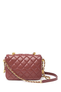 Chain Trimmed Quilted Lambskin Crossbody