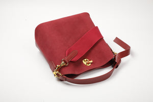 Suede Knot-handle Shoulder/ Hobo Bag